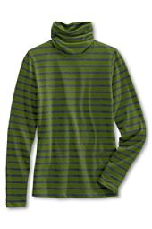 Striped green/grey turtleneck