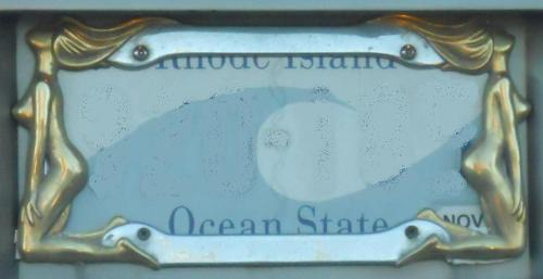 Naked Lady License Plate Holder